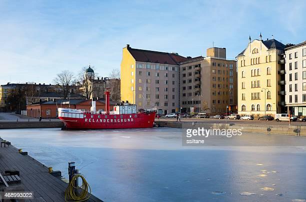 Red ship in Helsinki