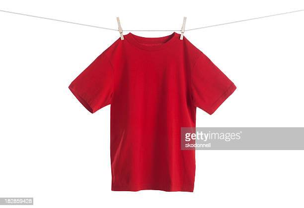 Red Shirt Hanging on a Clothesline