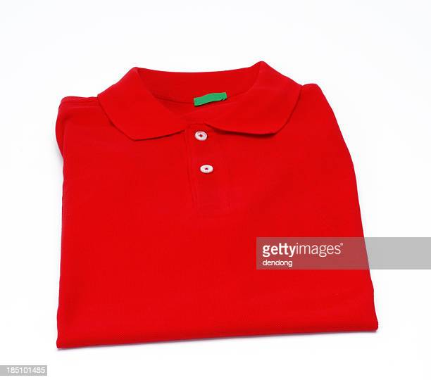 red shirt - polo shirt stock pictures, royalty-free photos & images