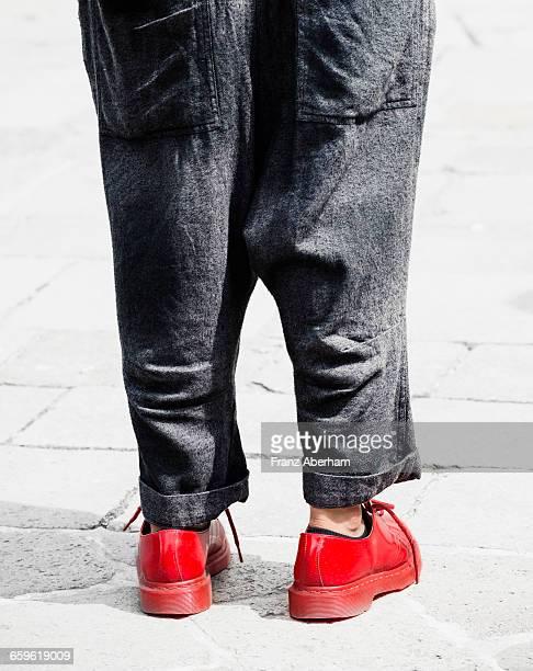 Red shoe city walk