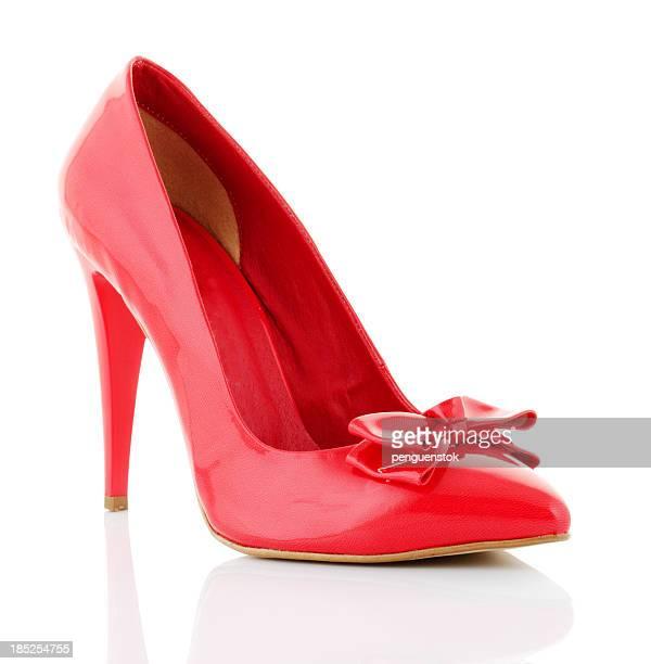 sapato vermelho - salto alto - fotografias e filmes do acervo