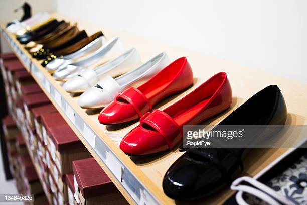 red shoes for sale - pump dress shoe stock pictures, royalty-free photos & images