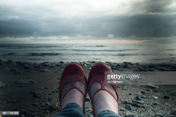 Red Shoes on the beach