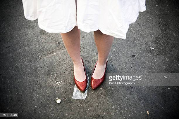 red shoes - red shoe stock pictures, royalty-free photos & images