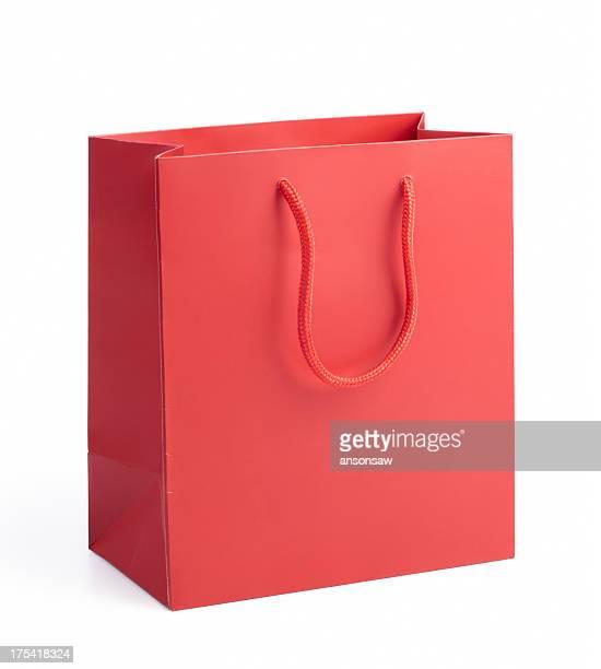 Rojo bolsa de la compra