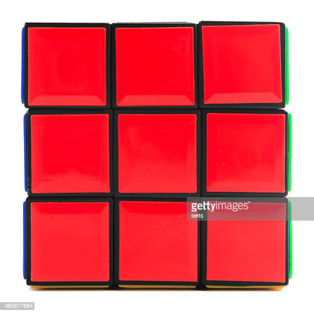 Red side of Rubik's Cube