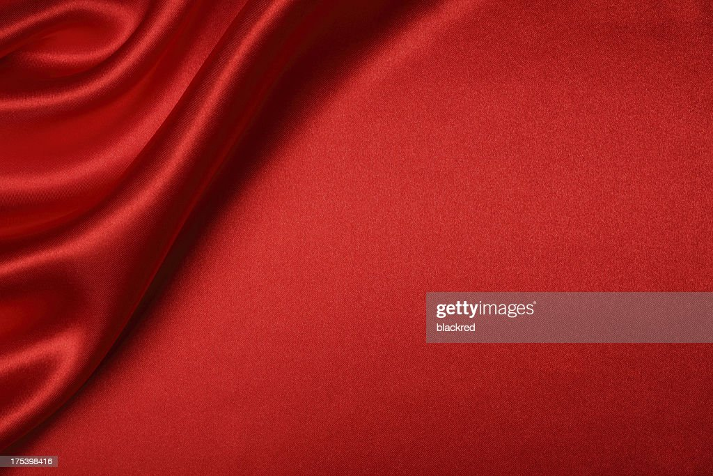 Red Silk Background : Stock Photo