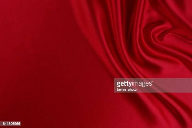 red silk fabric background - white satin stock photos and pictures