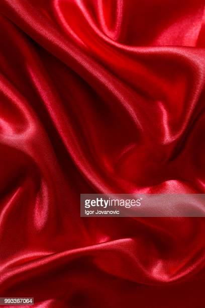 red silk or satin background - satin ストックフォトと画像
