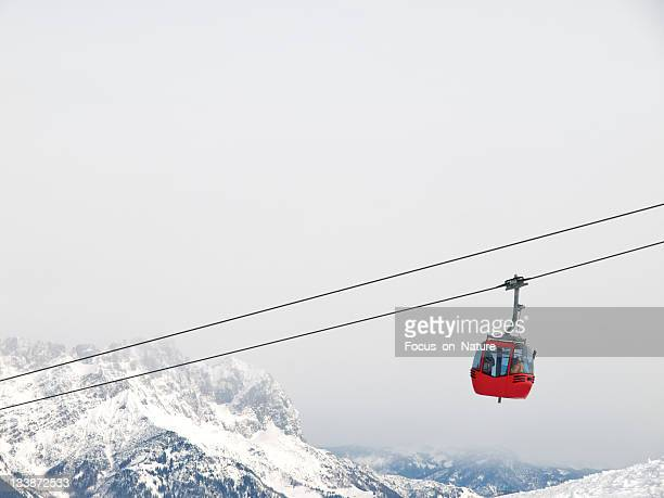 red ski lift - ski lift stock pictures, royalty-free photos & images