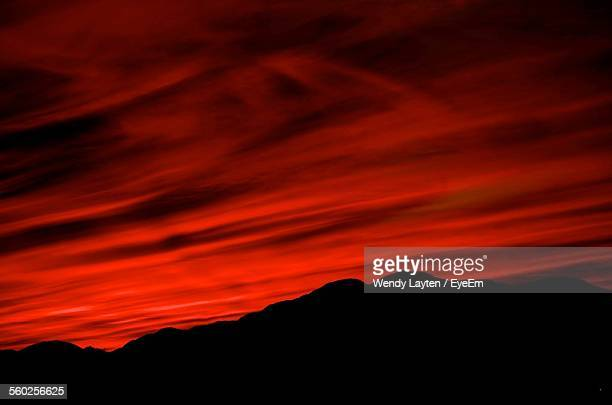 Red Sky Above Mountains