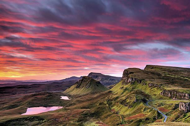 Red Sky On Skye Wall Art