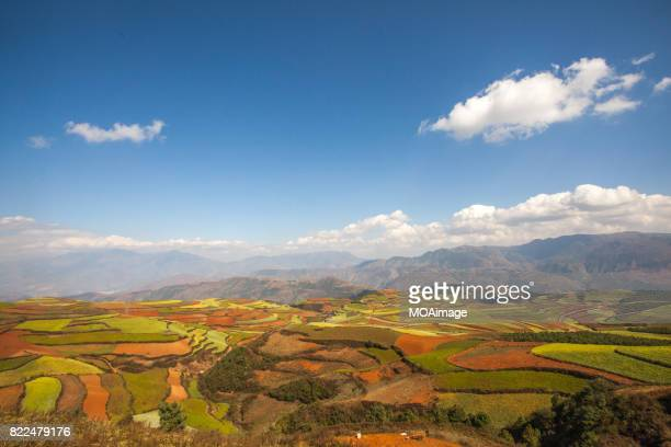 Red soil farmlands in Dongchuan district