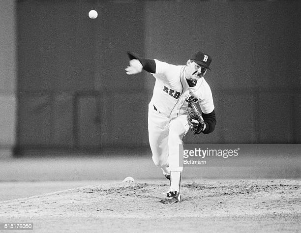 Red Sox ace hurler Roger Clemens fires a ball to the plate here, while pitching a 6-hitter for his 23rd win to lead Boston to a 2-1 victory over...