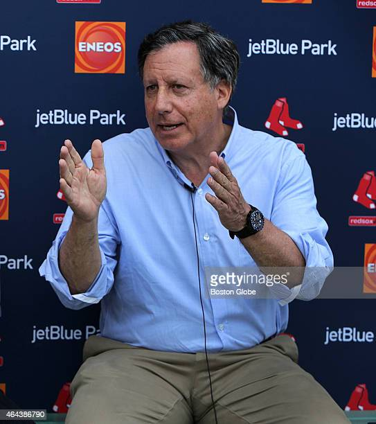 Red Sox Chairman Tom Werner during a media availability at Jet Blue Park