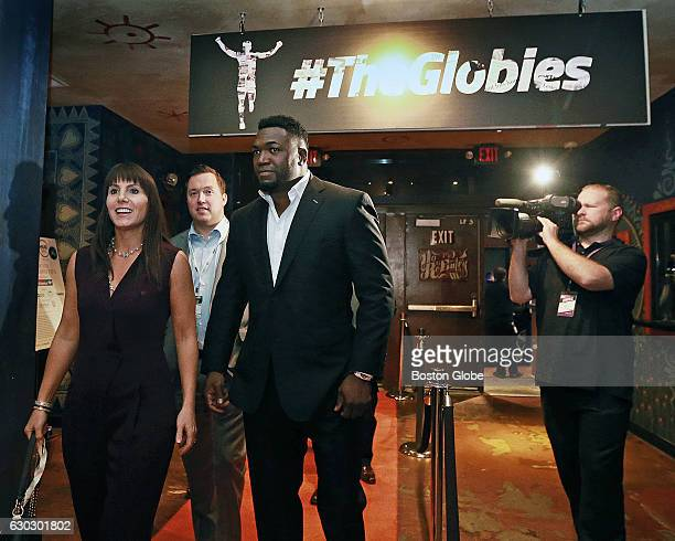 Red Sox David Ortiz and his wife Tiffany are pictured as they arrive for the first awards celebration known as The Globies held at the House of Blues...