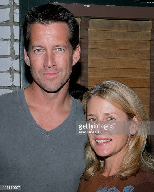 Red Sox Fundraiser Event in Santa Monica United States on August 20 2005 James Denton and wife at Sonny McLeans