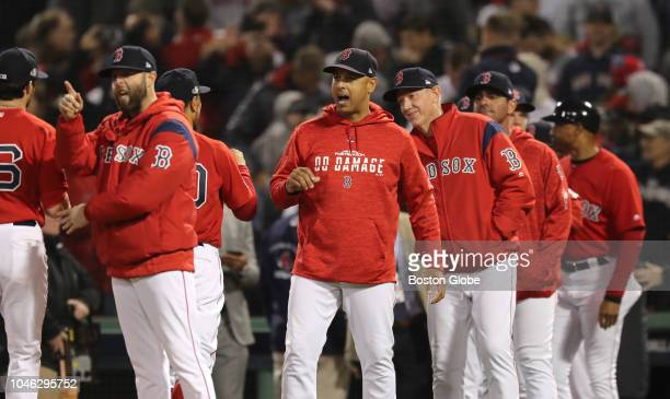 Red Sox manager Alex Cora after the Red Sox defeated the Yankees 54 Boston Red Sox hosted the New York Yankees in Game 1 of the ALDS at Fenway Park...