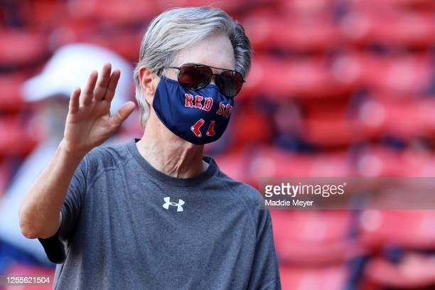 Red Sox owner John Henry watches an intrasquad game during Red Sox Summer Workouts at Fenway Park on July 11, 2020 in Boston, Massachusetts.