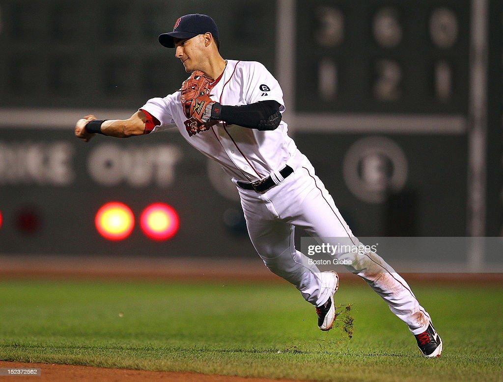 New York Yankees Vs. Boston Red Sox At Fenway Park : News Photo