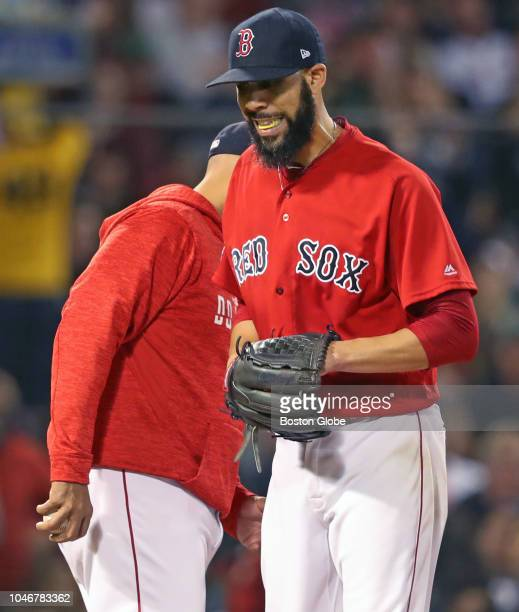 Red Sox starting pitcher David Price leaves the game in the second inning removed by manager Alex Cora The Boston Red Sox hosted the New York Yankees...