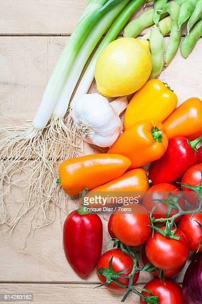 Red spectrum vegetables