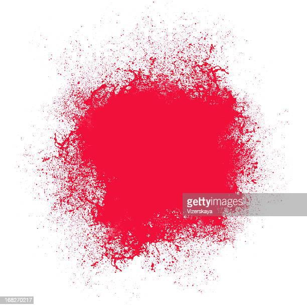 Red splash at white background