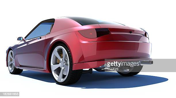 red sports car - bumper stock pictures, royalty-free photos & images