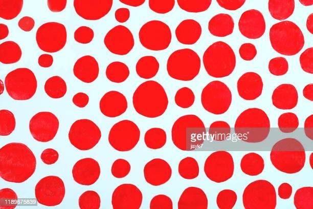 red spots - gepunktet stock-fotos und bilder