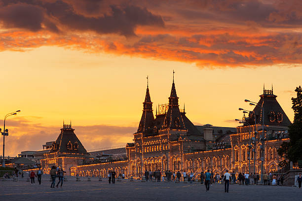 Red Square at dusk.