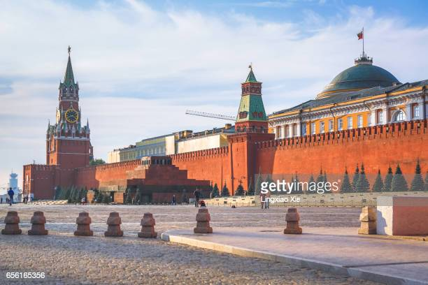 Red Square at morning with Lenin Mausoleum, Moscow, Russia