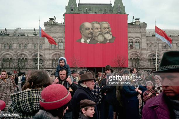 Red Square Crowd on May Day