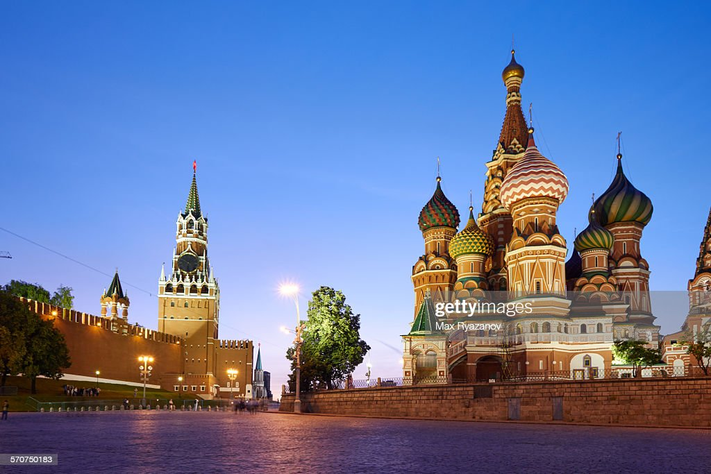 Red Square in Moscow at Sunset : Stock Photo