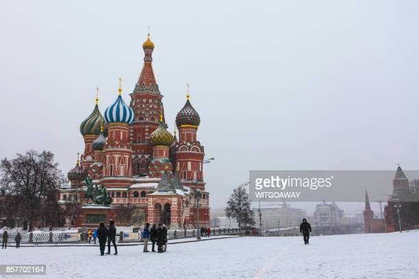 red square in moscow, russia - russia stock pictures, royalty-free photos & images