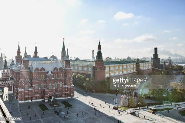red square kremlin and state historical museum, moscow - state stock pictures, royalty-free photos & images