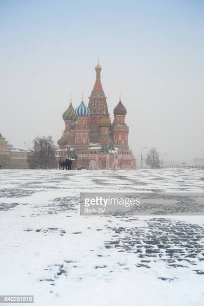 Red Square under snow