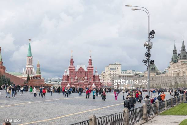 red square;image taken from within or near the kremlin area of moscow. september - {{asset.href}} stock pictures, royalty-free photos & images
