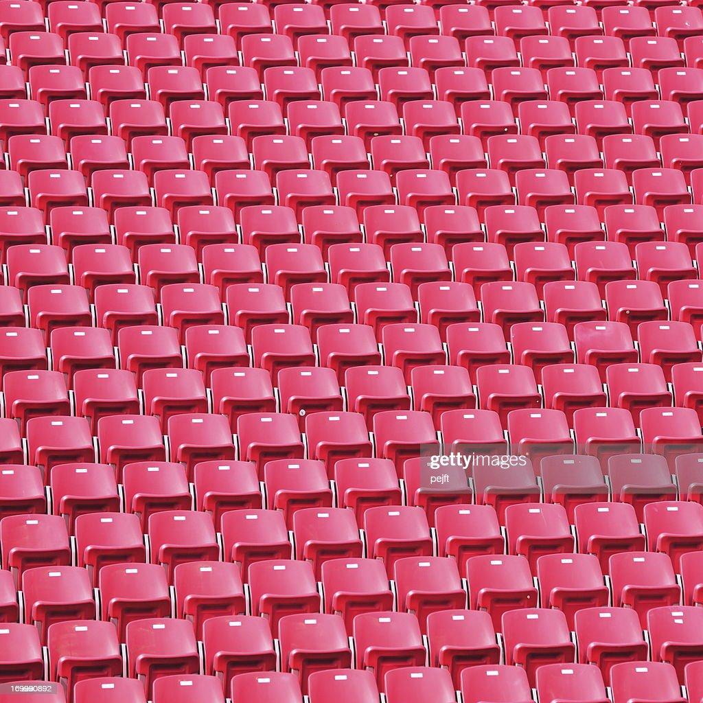 Red stadium seats : Stock Photo