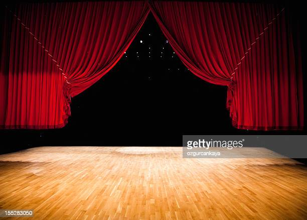 red stage curtain - stage curtain stock pictures, royalty-free photos & images
