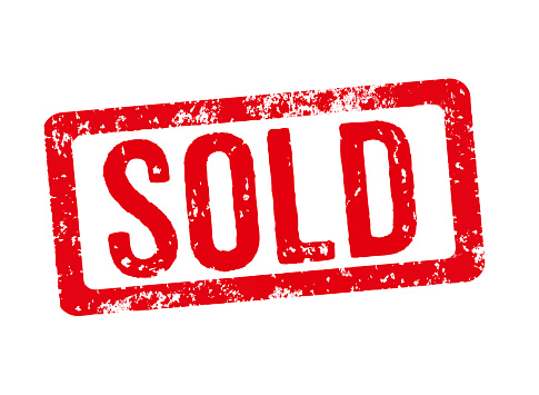 Red stamp on a white background - Sold 497089754