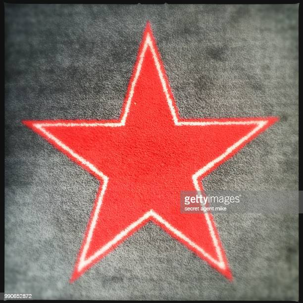 red star rug - walk of fame stock pictures, royalty-free photos & images