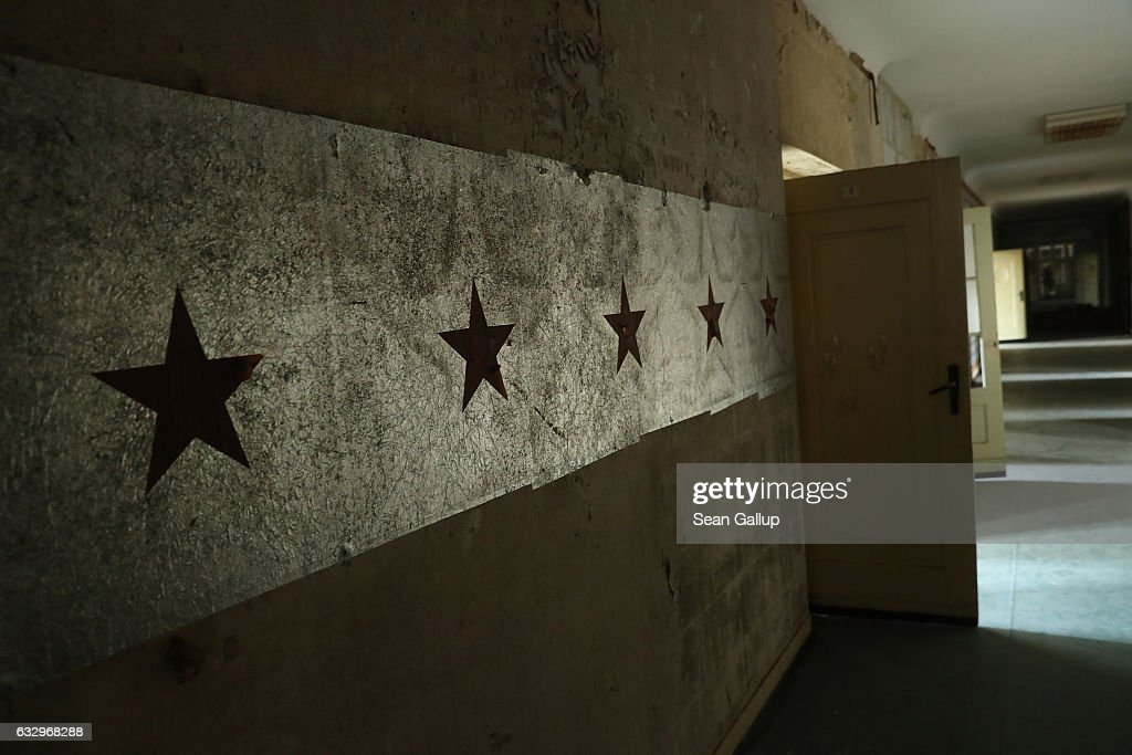 Red stars decorate a hallway in the officers' building at the former Soviet military base on January 26, 2017 in Wuensdorf, Germany. Wuensdorf, once called 'The Forbidden City,' was the biggest base for the Soviet armed forces in communist East Germany from 1945 until the last Soviet troops left in the early 1990s following the end of the Cold War and the reunification of Germany. While Soviet troops pulled out of eastern Europe after 1989, Russian troops have in recent years intervened in Ukraine. The NATO military alliance has strengthened its presence in the Baltic states in an effort to prevent similar Russian intervention there.