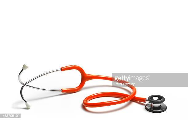 red stethoscope - stethoscope stock pictures, royalty-free photos & images