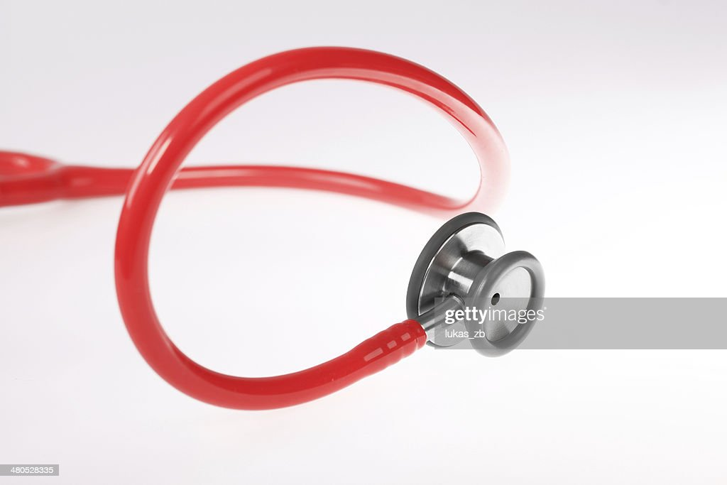 Red Stethoscope. : Stock Photo