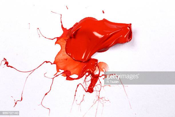 Red stroke of the paint