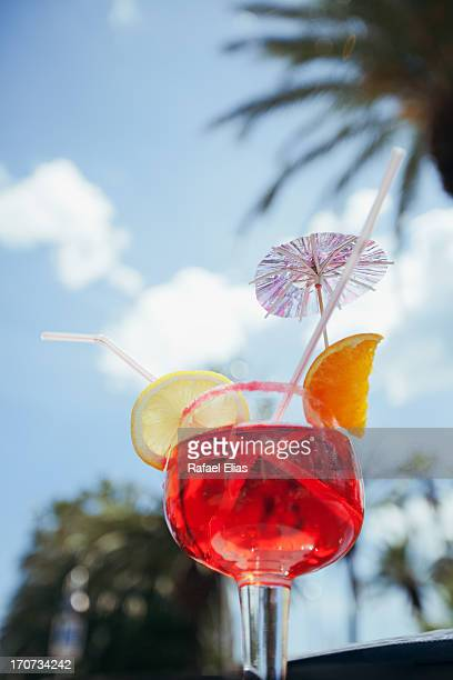 Red summer cocktail