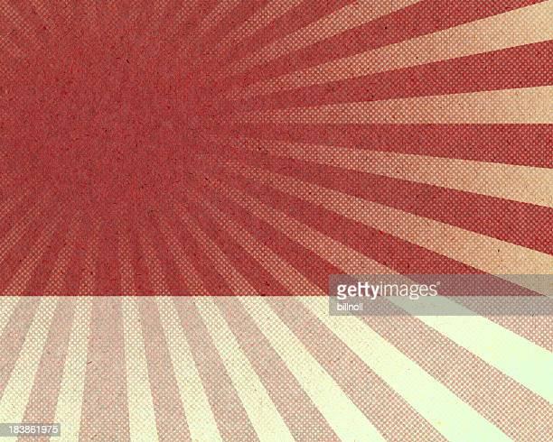 レッドサンバーストハーフトーンパターン、紙