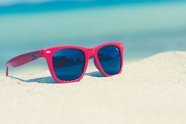 Red Sunglasses On A Sunny Beach Wall Art