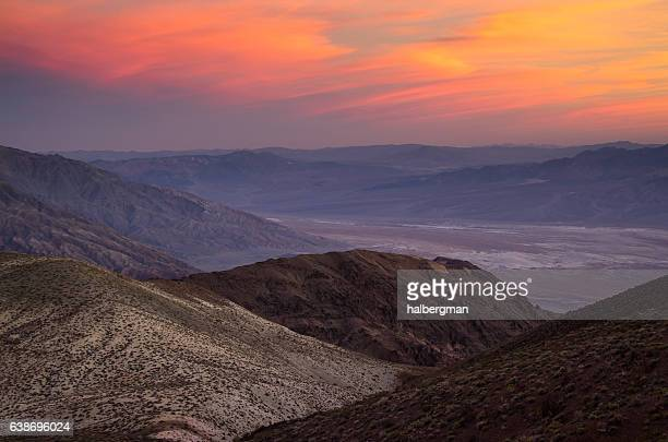 Red Sunset in Death Valley