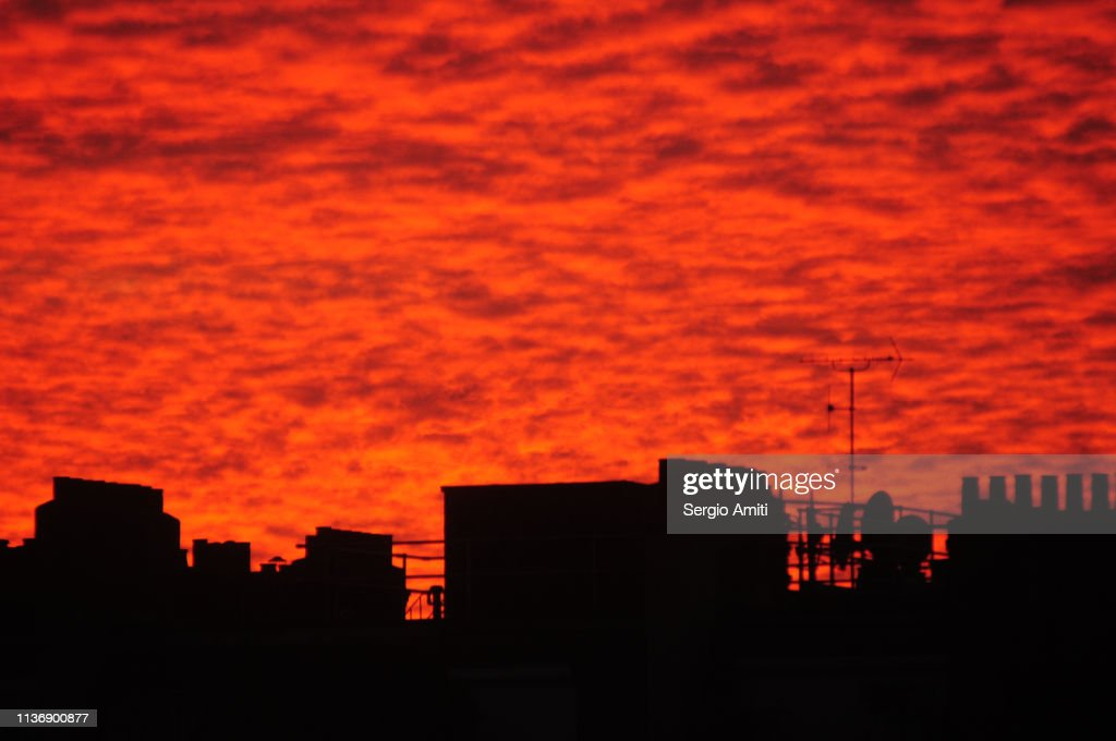 Red sunset : Stock Photo
